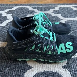 Adidas Black and Teal Running Shoes